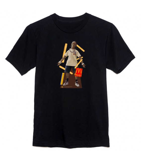 Travis Scott x McDonald's Action Figure T-Shirt Black