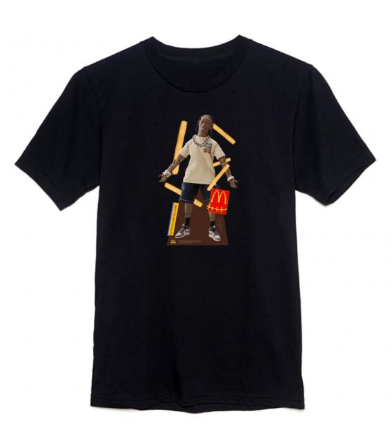T-Shirt Travis Scott x McDonald's Action Figure Noir