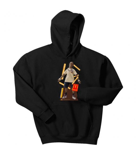 Travis Scott x McDonald's Action Figure Hoodie Black