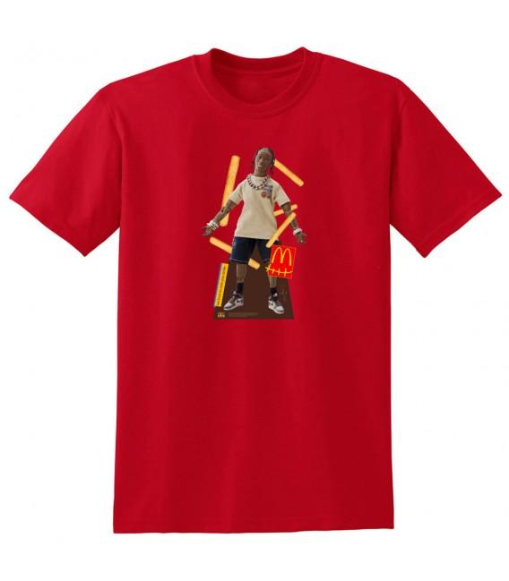 T-Shirt Travis Scott x McDonald's Action Figure Rouge