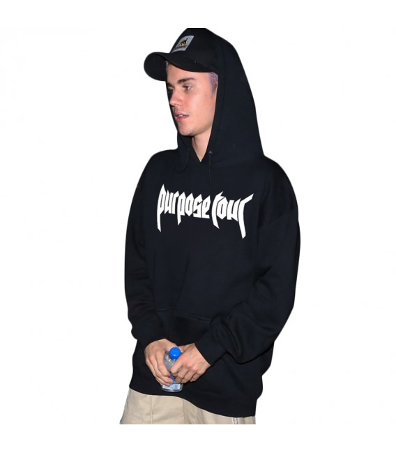 Purpose Tour Sweat à Capuche Noir Justin Bieber Merch