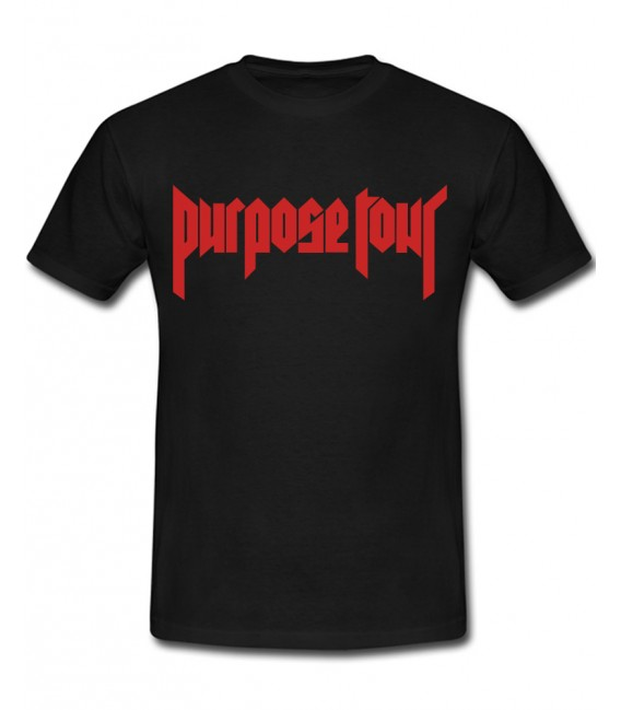 Purpose Tour Tee Black Justin Bieber Merch