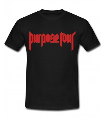Purpose Tour Tee Black Justin Bieber Merch