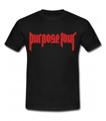 Purpose Tour Tshirt Noir Justin Bieber Merch